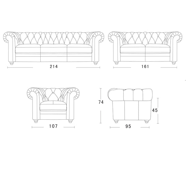 Vintage Chesterfield Sofa Schematics