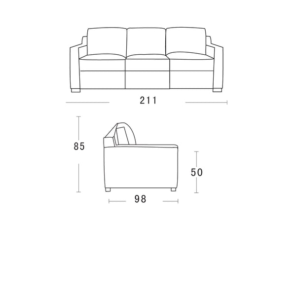 Webster sofa bed WIITH MEMORY FOAM IN BLACK LEATHER schematics