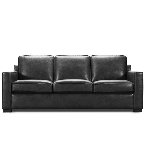 Webster sofa bed WIITH MEMORY FOAM IN BLACK LEATHER