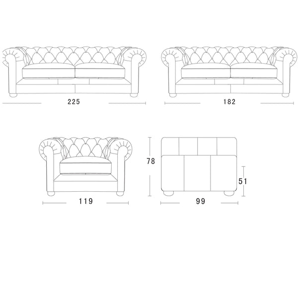 William Chesterfield Sofa Schematics