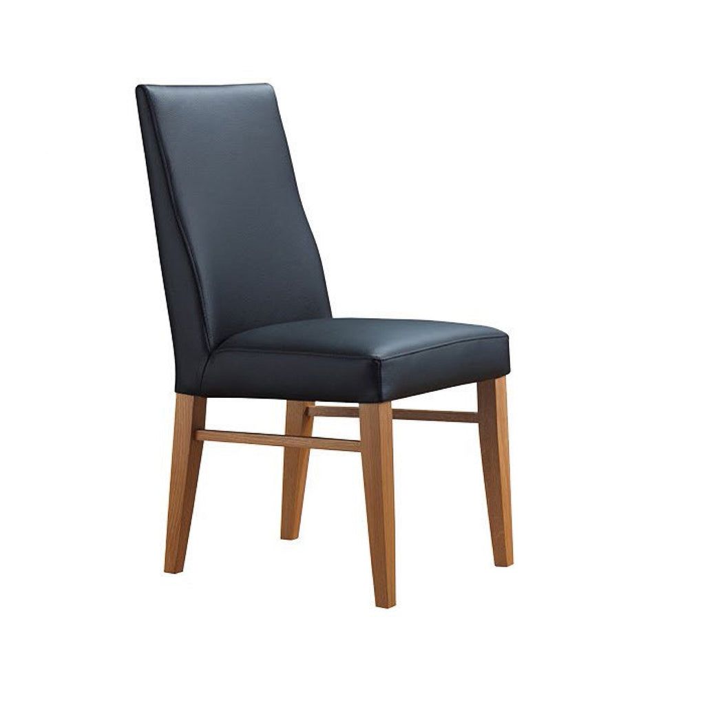 Zack dining chair in leather black