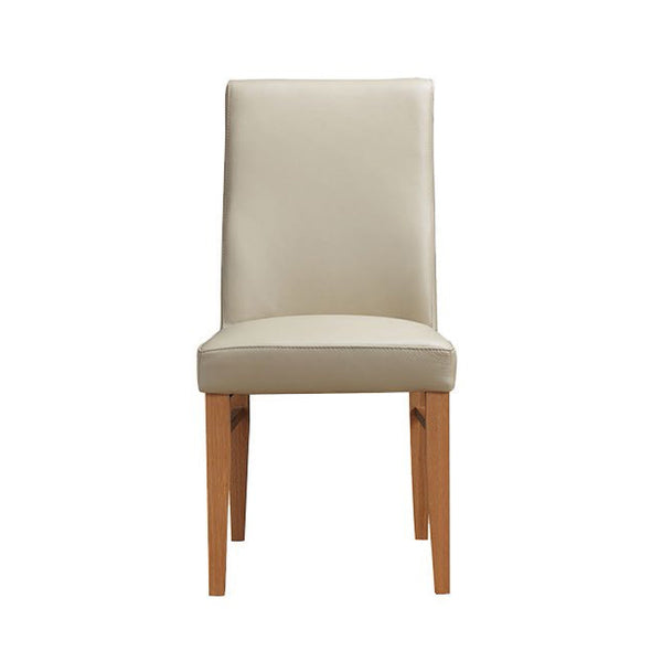 Zack dining chair in leather Mocha