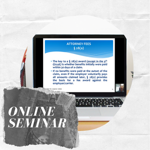 Online Comprehensive Longshore Seminar