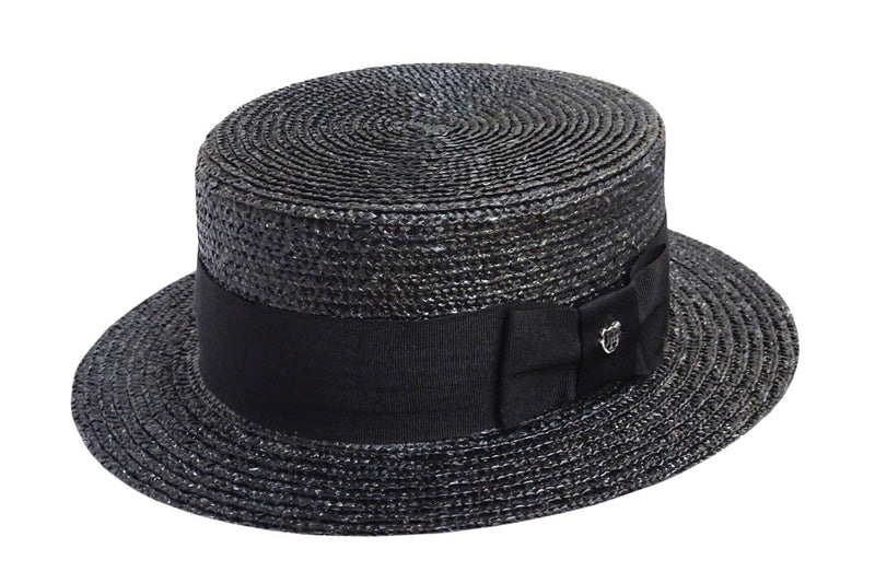 Hills Hats Straw Boater - Black Band