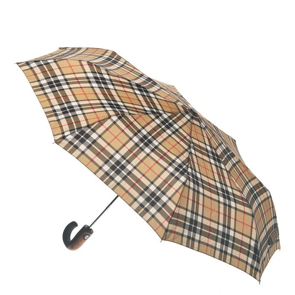 Clifton Umbrella - Camel Thomson with Wood Trim (Short)