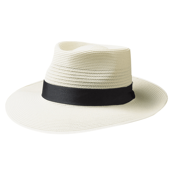 Side view of Akubra Country club hat in cream colour