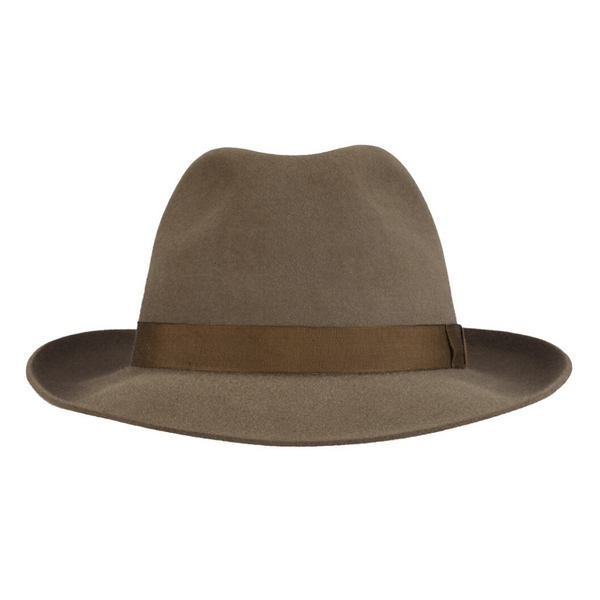 front view of Akubra Casual hat in Regency Fawn colour