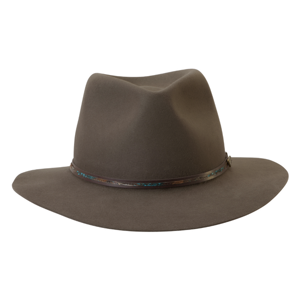 front view of Akubra Leisure Time hat in Regency Fawn colour