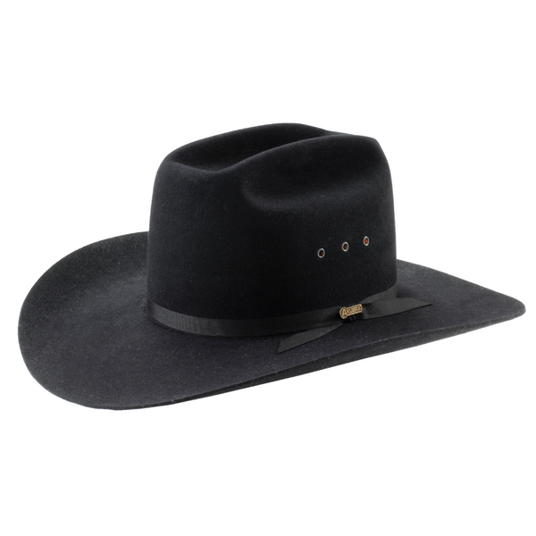 angle view of black Akubra Outback Club hat