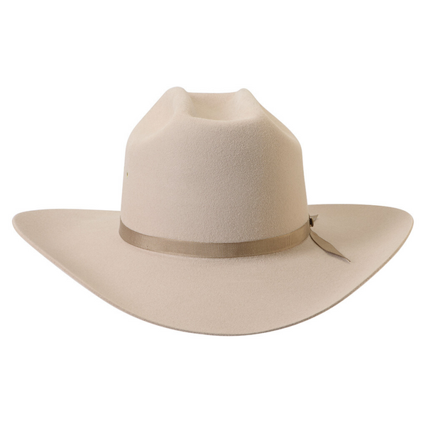 front view of the Akubra Outback Club hat in Sand colour