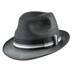 angle view of black Akubra Punter hat