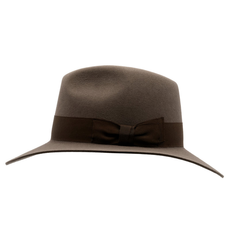 side view of Akubra Adventurer hat in Regency Fawn colour