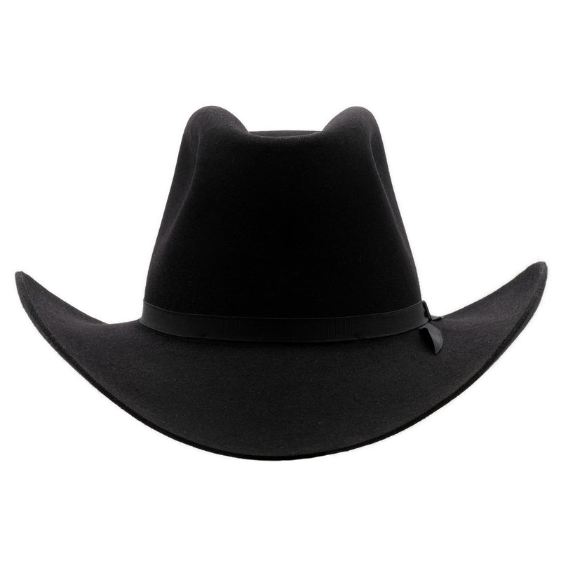 Front on view of Akubra Bobby in Black