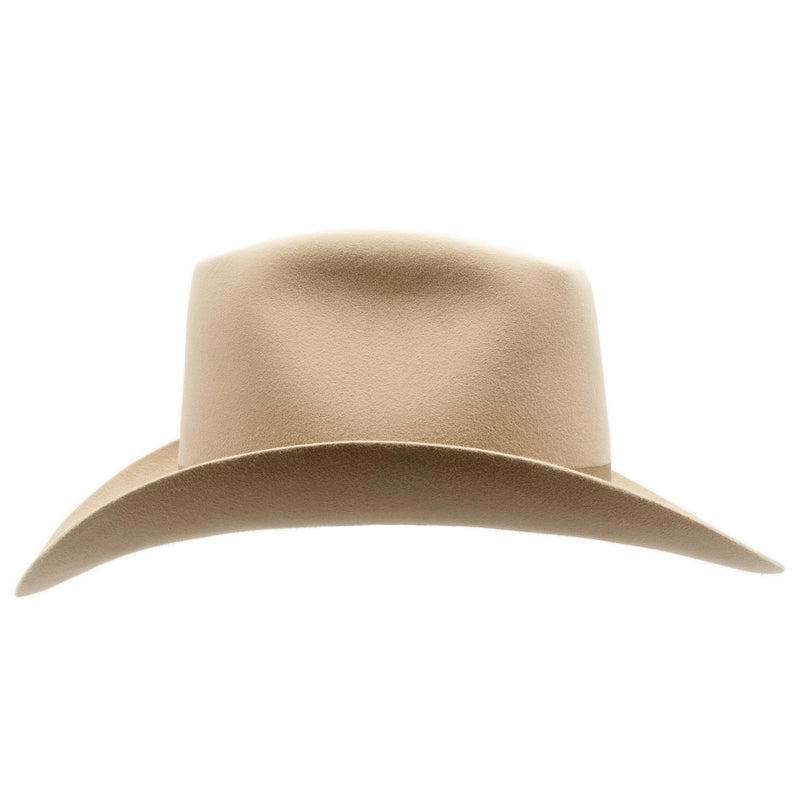 Side on view of Sand coloured Akubra Bobby hat