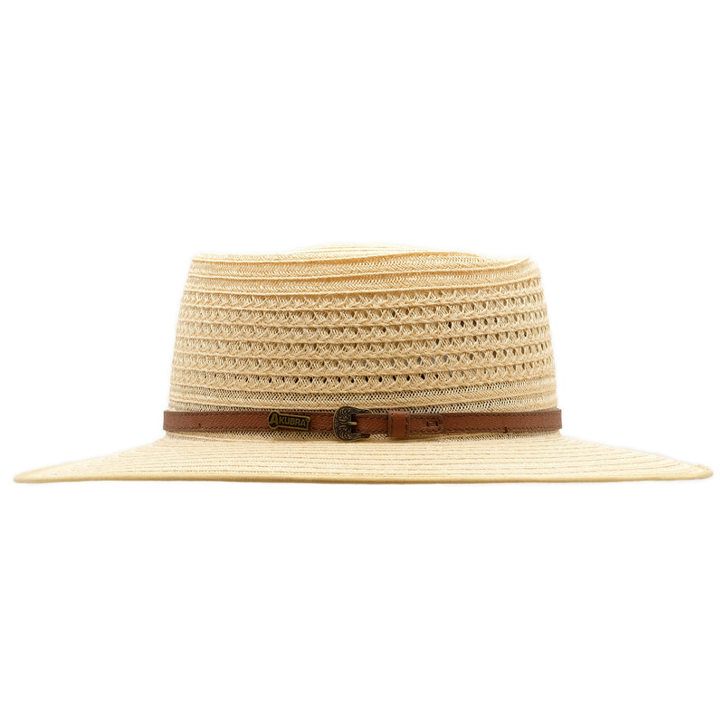 Side view of Akubra Byron in Natural Straw colour