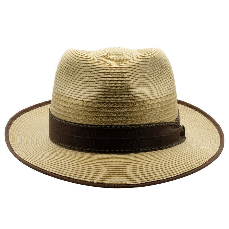 Front view of Akubra Capricorn hat in Fawn colour
