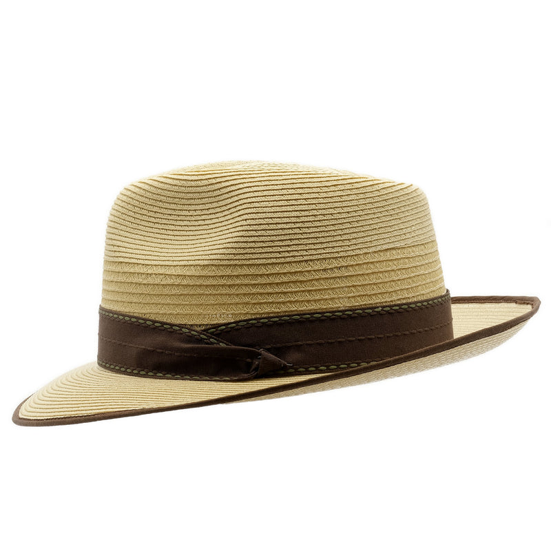 Side view of Akubra Capricorn hat in Fawn colour