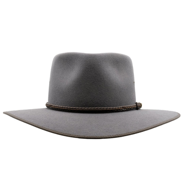 Front view of the Akubra Glen Grey Cattleman hat