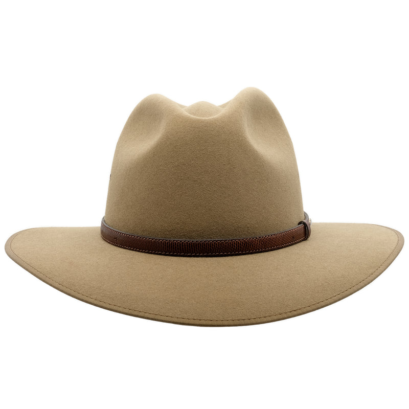 Front view of the Akubra Coober Pedy hat in Santone colour