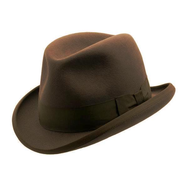 Akubra Homburg - Mid Brown