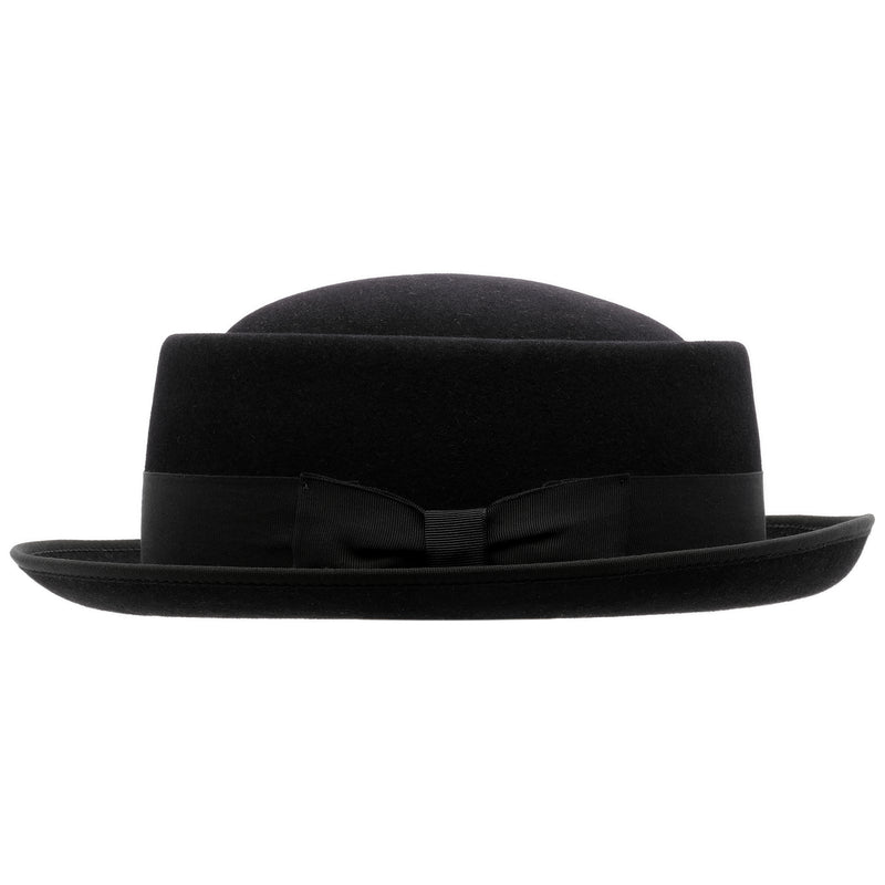 Side-on view of Akubra Jazz hat in black