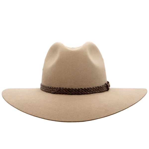 front view of the Akubra Riverina Hat in Bran colour