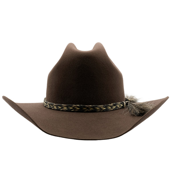 Front view of Akubra Rough Rider in Loden colour
