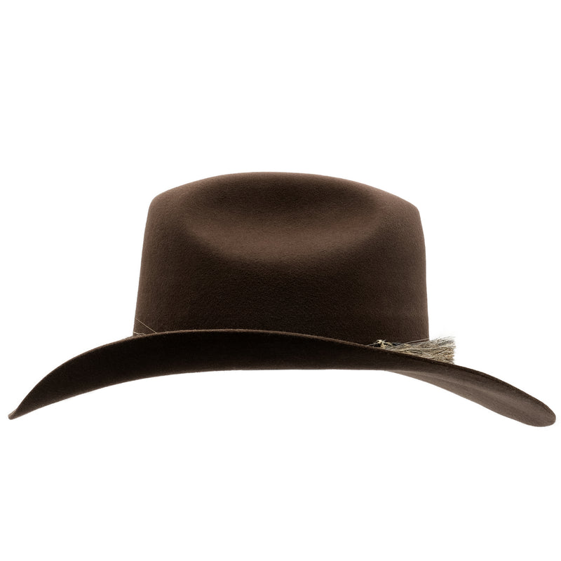Side view of Akubra Rough Rider in Loden colour