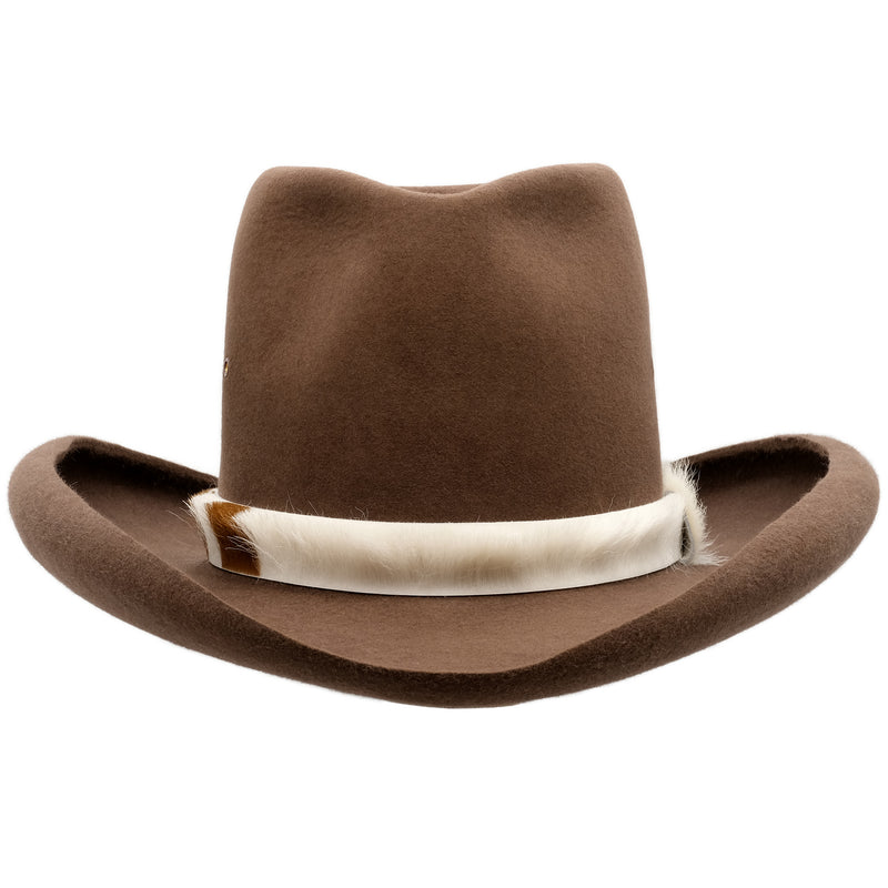 Front-on view of Akubra Sombrero in Fawn colour