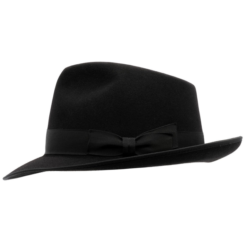 Side view of  black Akubra Stylemaster hat
