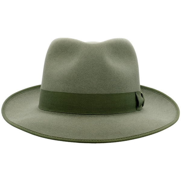 Front view of Akubra Stylemaster hat in Bluegrass Green colour