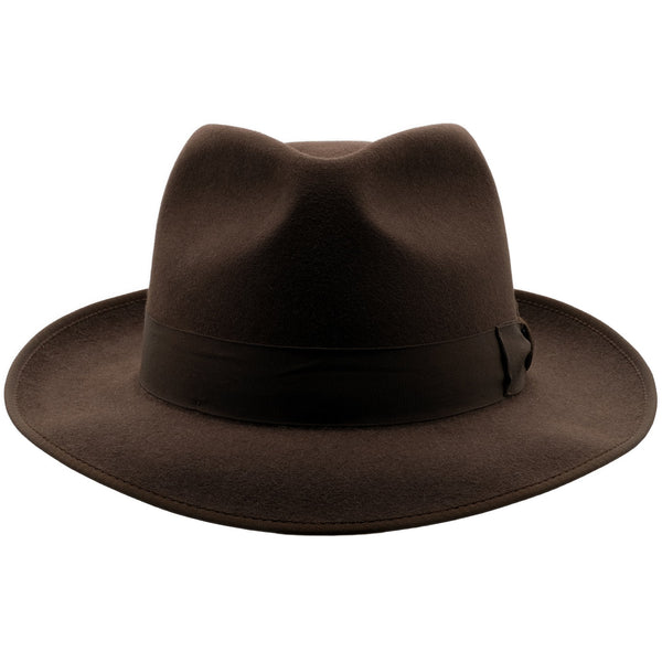 Front view of Akubra Stylemaster hat in Loden colour
