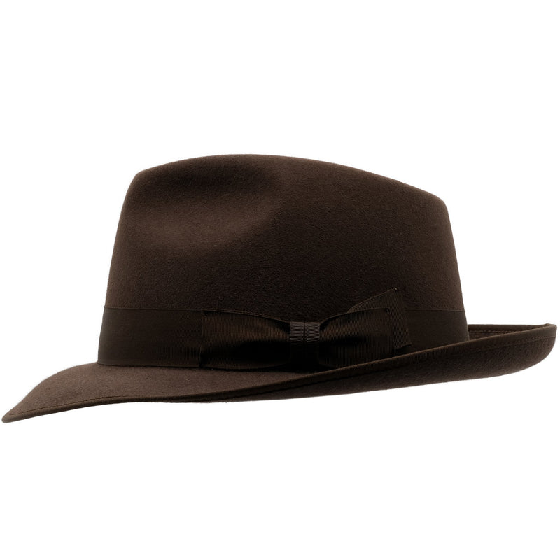 Side view of Akubra Stylemaster hat in Loden colour