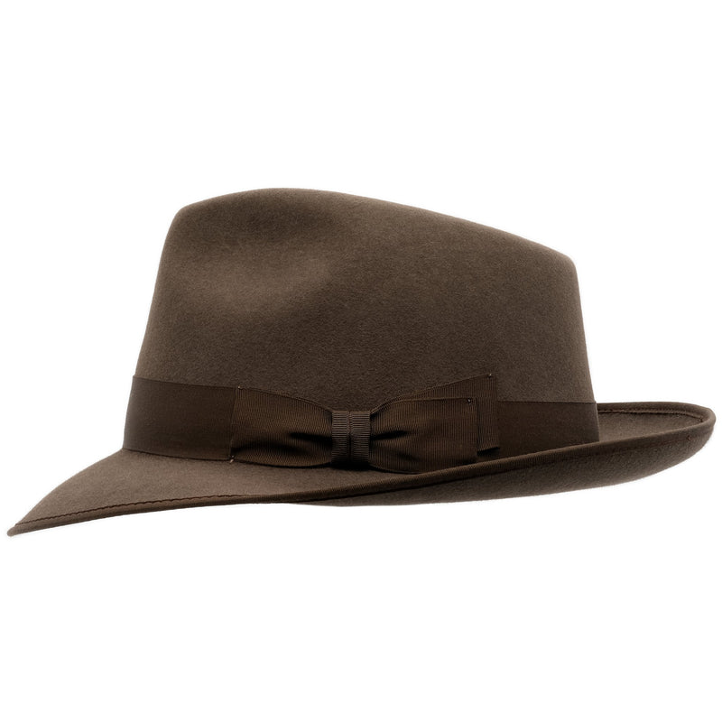 Side view of Akubra Stylemaster in mid brown colour