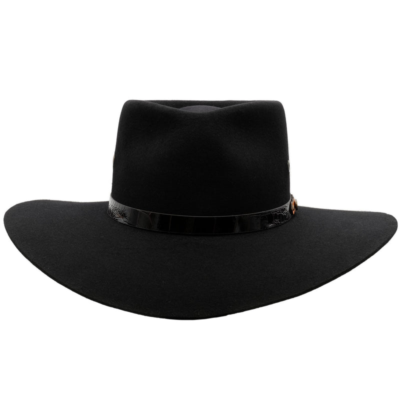 front view of Akubra Territory hat in black
