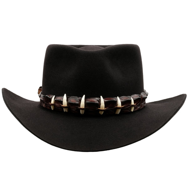 front view of Akubra the Croc Slye hat