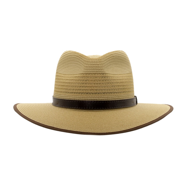 Front view of Akubra Zephyr hat in fawn