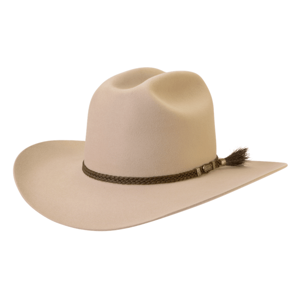 Angle view of Akubra the Arena hat in Sand colour