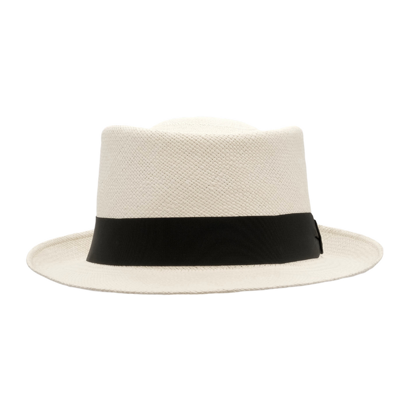 Strand Hatters, front view of Avenel Classic Cuba Brisa Panama - Bleach