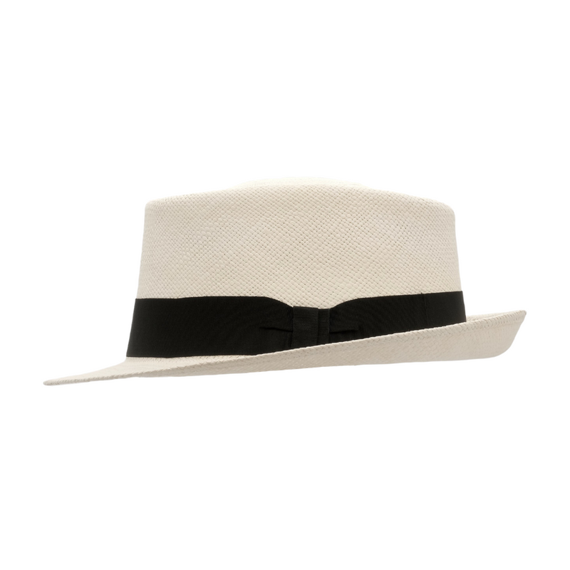 Strand Hatters, side view of Avenel Classic Cuba Brisa Panama - Bleach