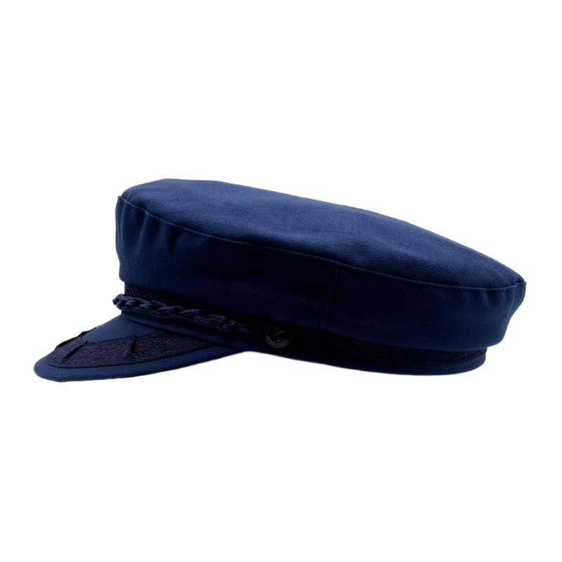 Avenel Cotton Greek Fisherman Cap - Navy