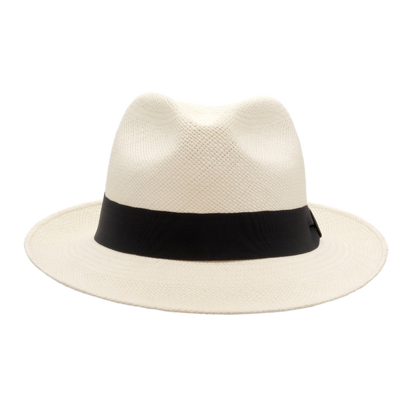 Strand Hatters, front view of Avenel Teddy King Brisa Panama #3 - Bleach
