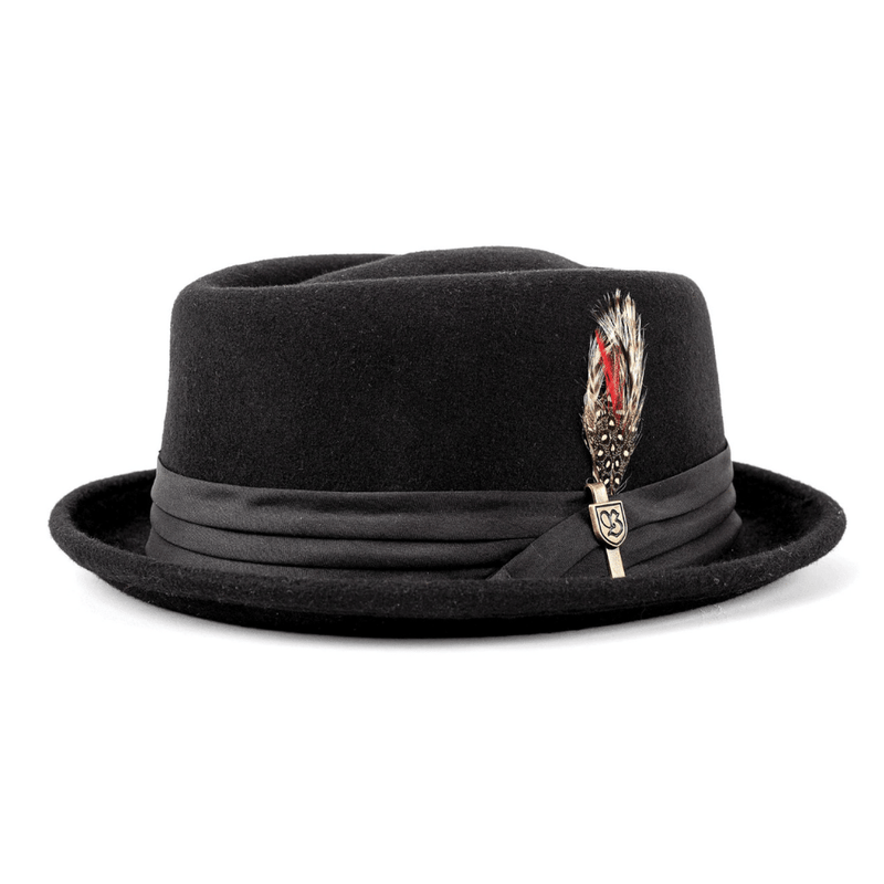 Side view of  Brixton Stout hat in black