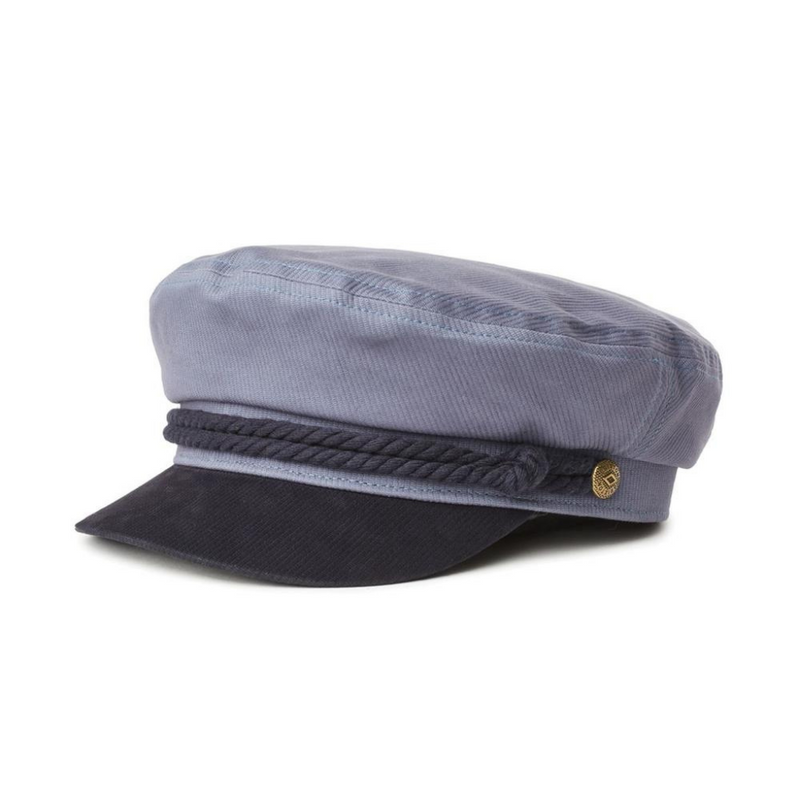 Brixton Fiddler Cap in slate/navy colour