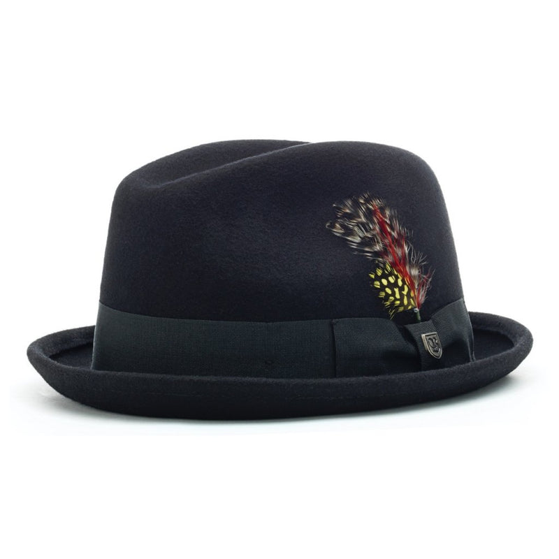 Brixton Gain fedora in Black