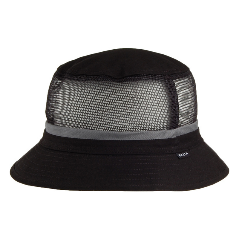 Brixton Hardy mesh bucket hat - black/grey