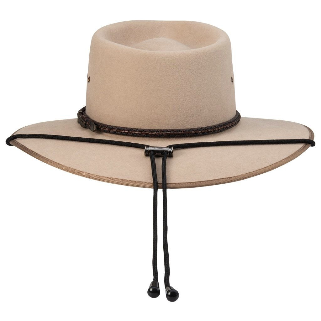 Akubra Chinstrap - Black Safety - Brisbane Hatters