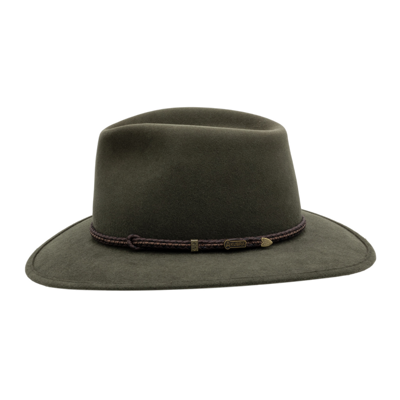 Side view of Akubra Avalon in Fern colour