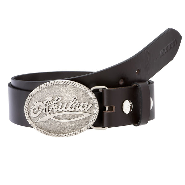 coiled brown Akubra Trophy Belt
