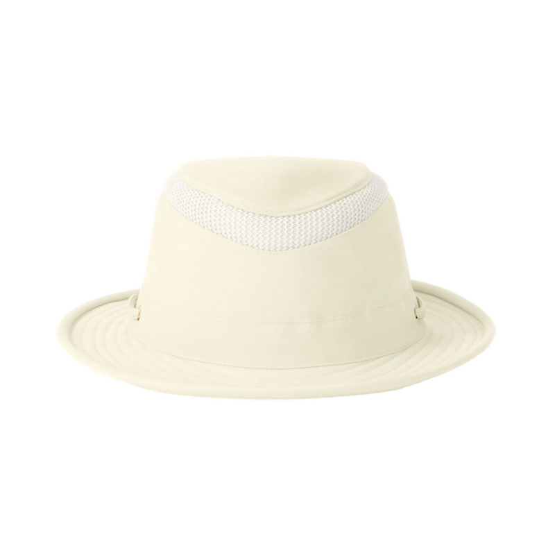 Front view of Tilley LTM5 Airflo hat in Natural colour
